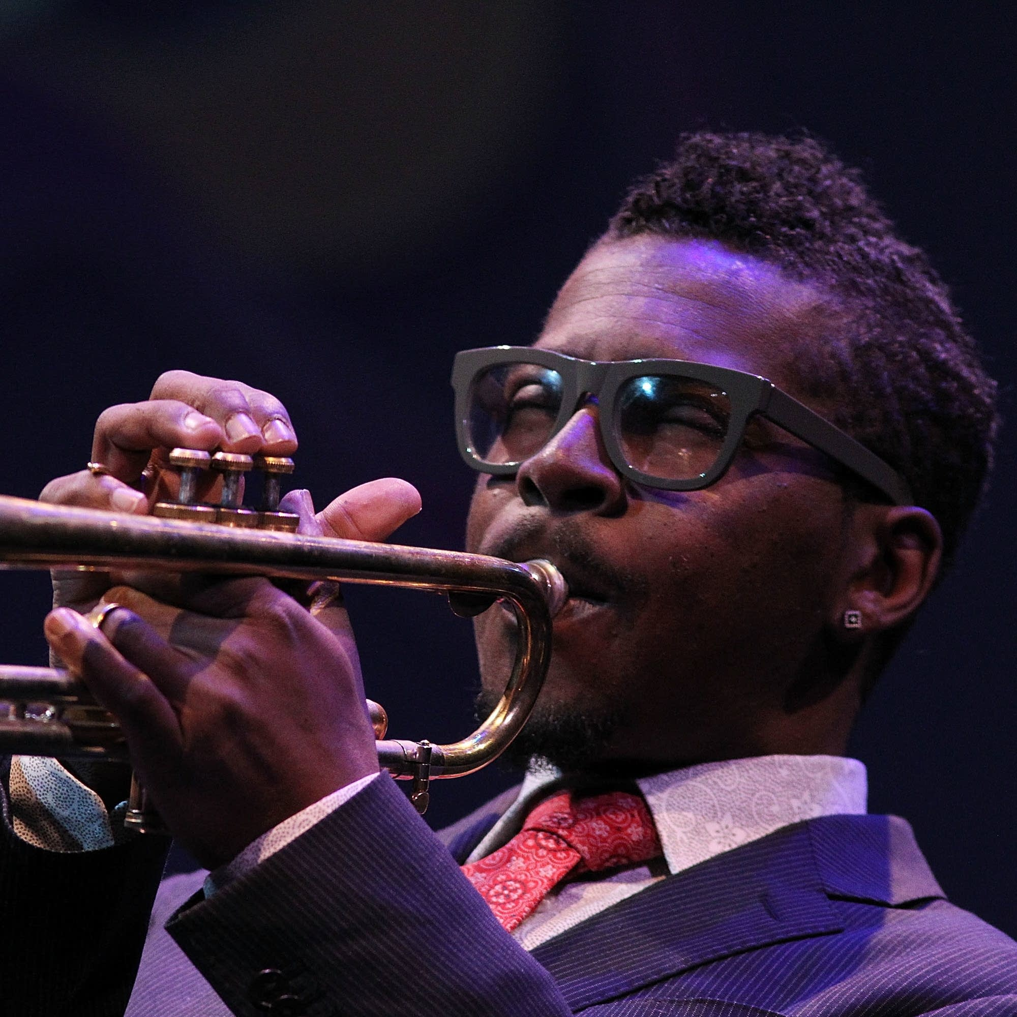 Roy Hargrove performing at the Kennedy Center in 2013.