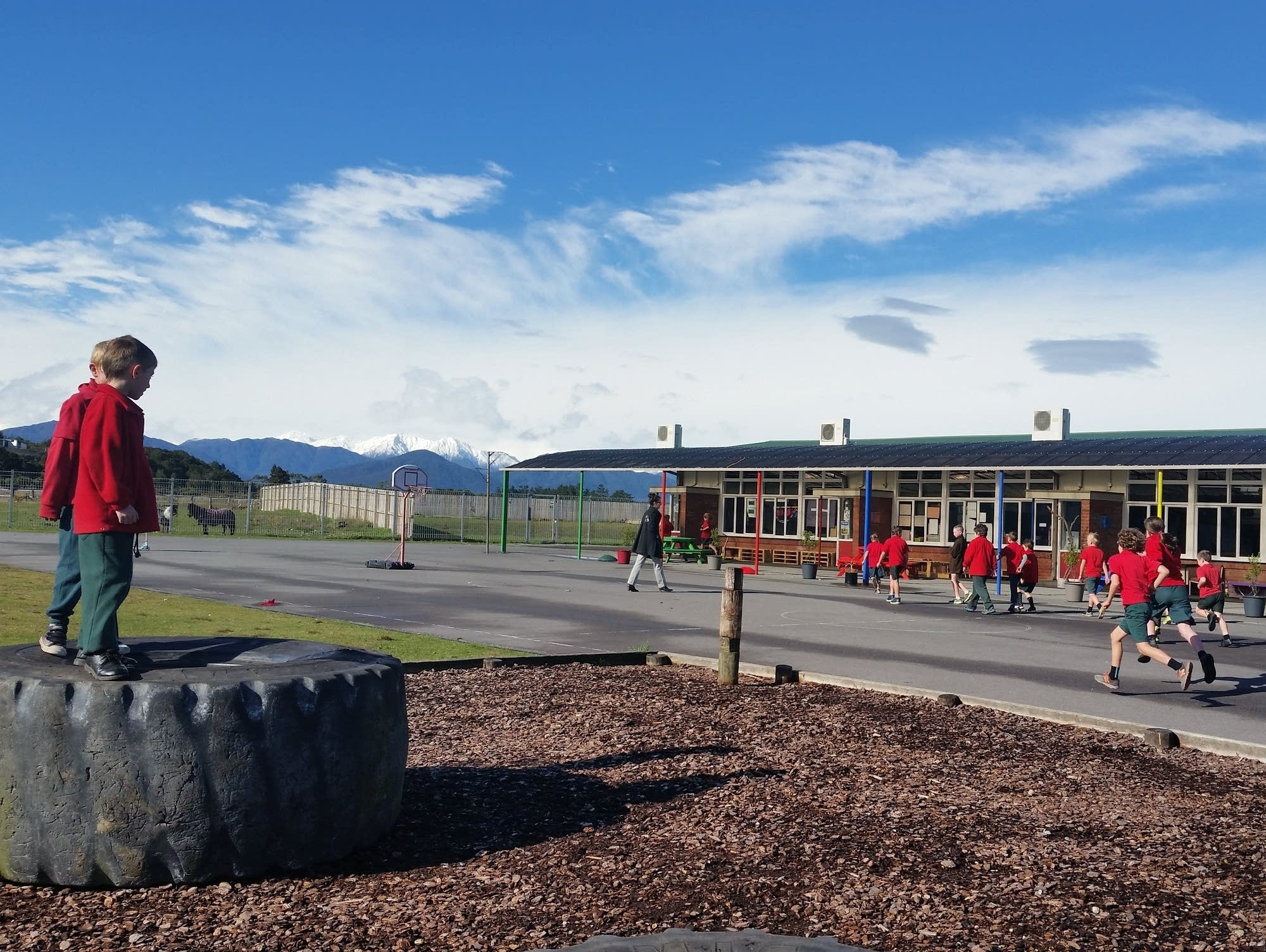 Hokitika Primary School in New Zealand.