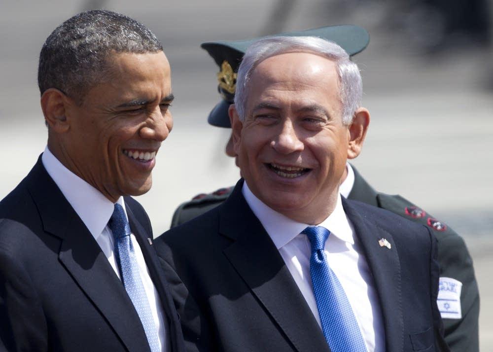 Obama and Netayahu