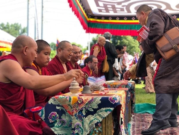Tibetan-American festival at Boom Island in Minneapolis