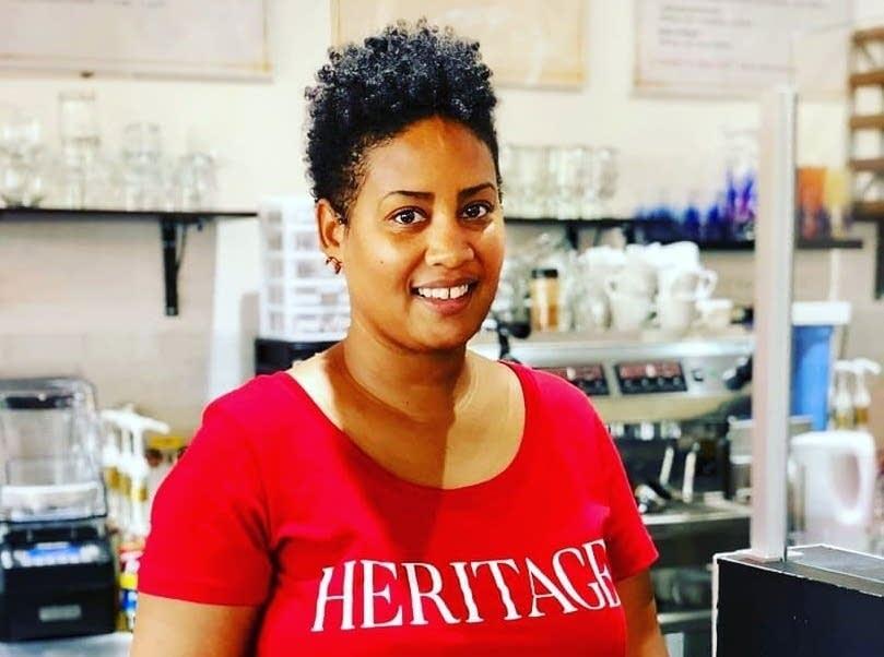 Raeisha Williams at Heritage Tea House
