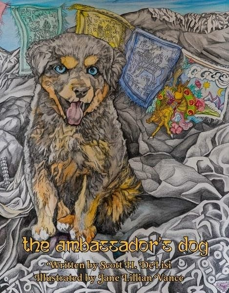 A book cover of 'The Ambassador's Dog'