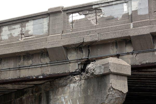 Deteriorating bridge