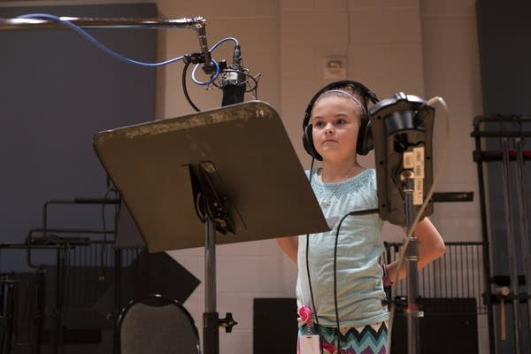Sophie Jones records Tiny Tim's opening to 'A Christmas Carol.'