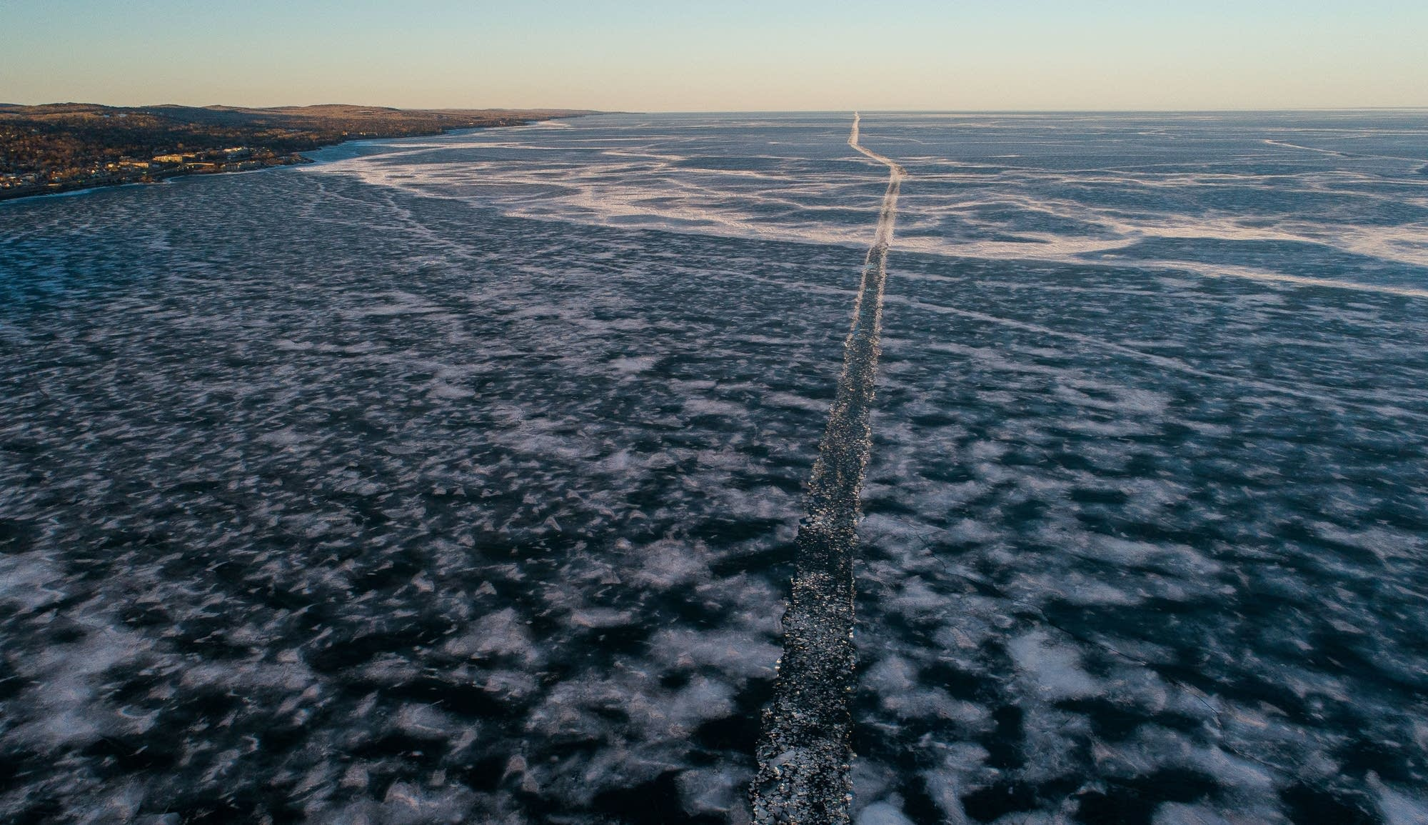 The route through the Lake Superior ice and Mackinaw are visible.