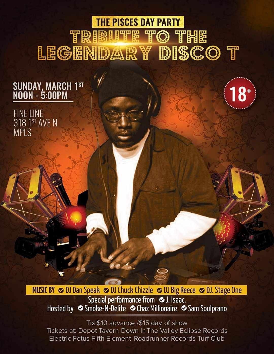 Disco T tribute show artwork