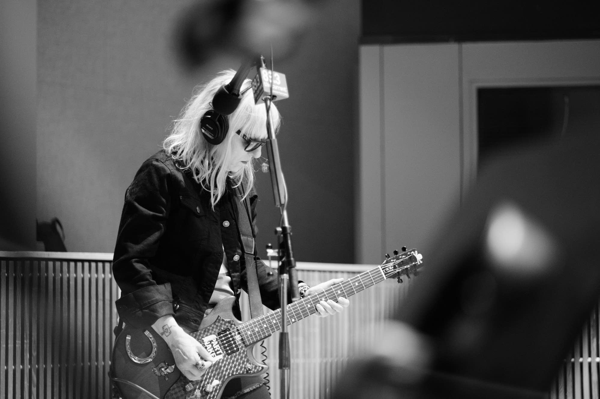L7 perform in The Current studio