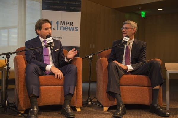 Erik Paulsen and Dean Phillips have a debate at the UBS Forum at MPR