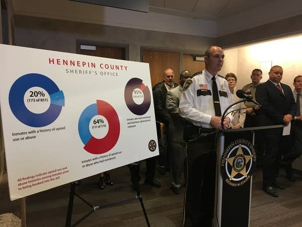 Hennepin County Sheriff Rich Stanek shares study of opioid use by inmates.