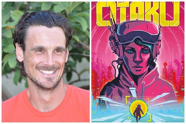 "Chris Kluwe and an image of his new book ""Otaku."""