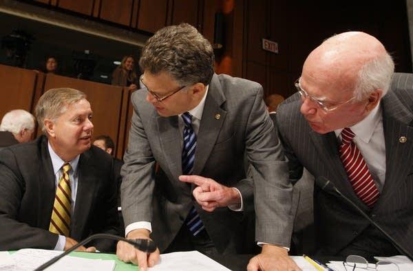 Patrick Leahy, Al Franken, Lindsey Grham