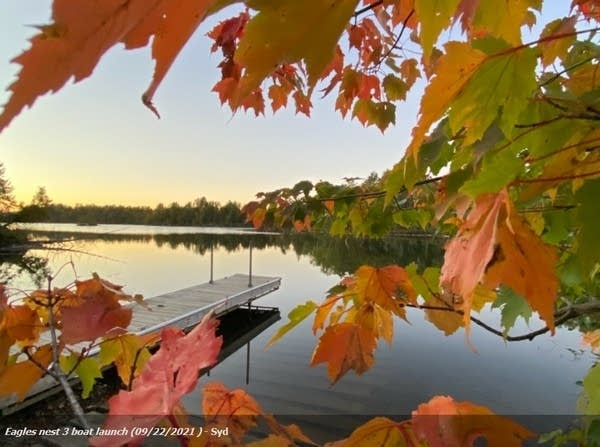 Fall color at Bearhead Lake State Park