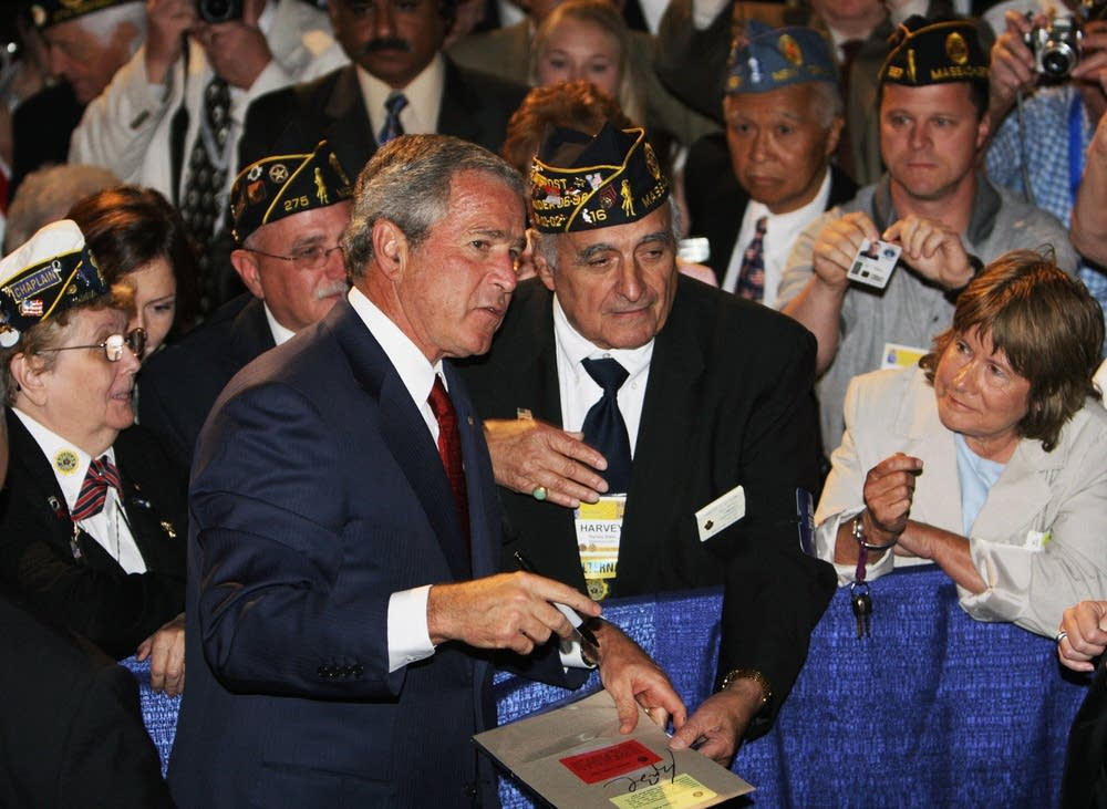 Bush with American Legion