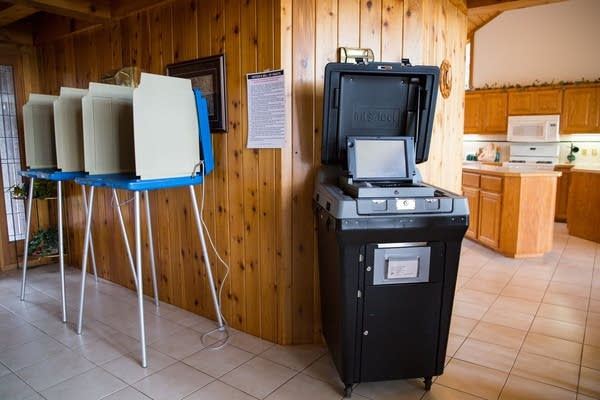 The kitchen and voting booths.