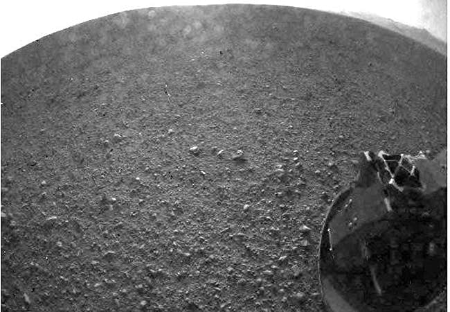 One of the first images taken by NASA's Curiosity
