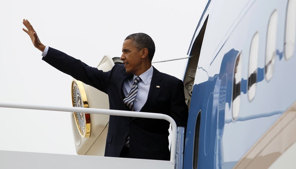 Obama leaves for Minneapolis