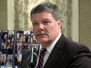 Rep. Jim Newberger, R-Becker, campaigned for U.S. Senate in Hinckley.