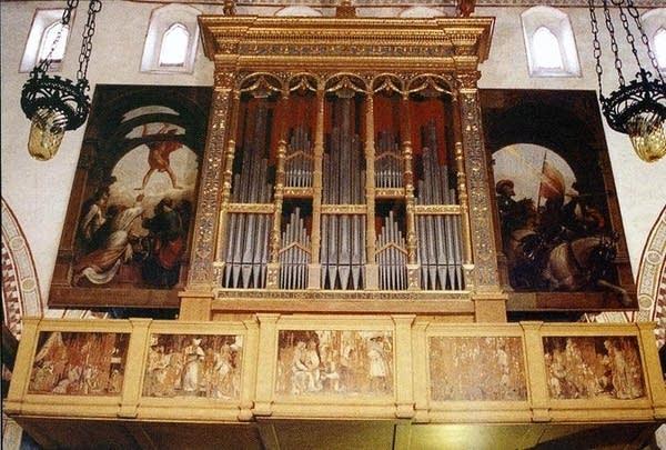 1981 Zanin organ at the Basilica di Santa Maria Maggiore, Spilimbergo, Italy