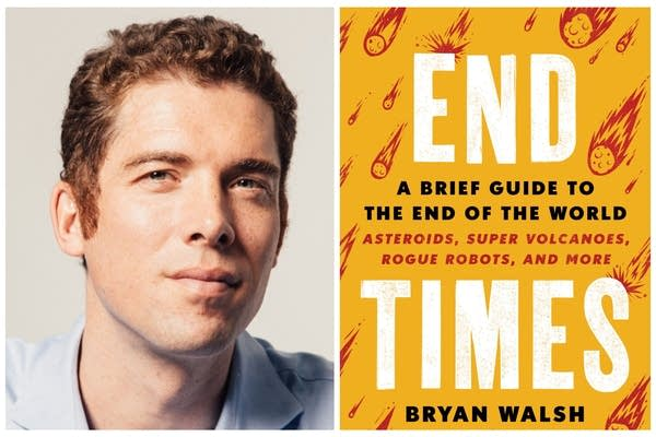 "Bryan Walsh and his new book ""End Times"" are shown"