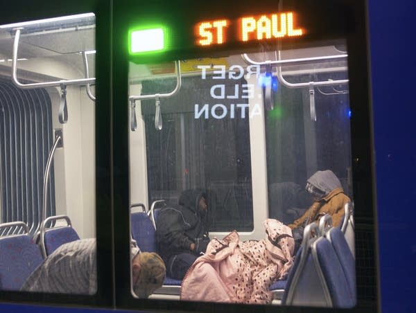 Light rail has become a haven for the homeless late at night.