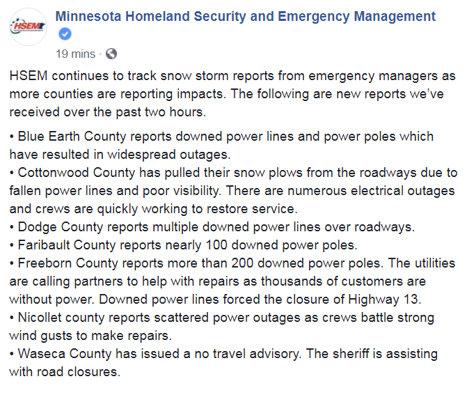 4 11 HSEM power lines down