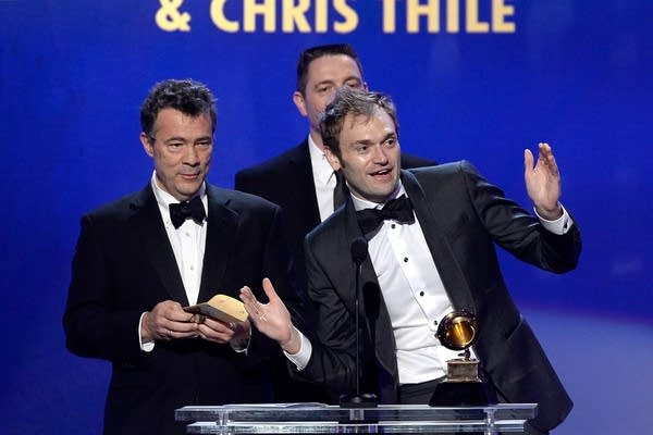 Musicians Edgar Meyer, left, and Chris Thile