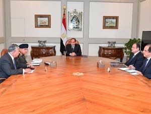 Egyptian officials meet after a deadly mosque attack