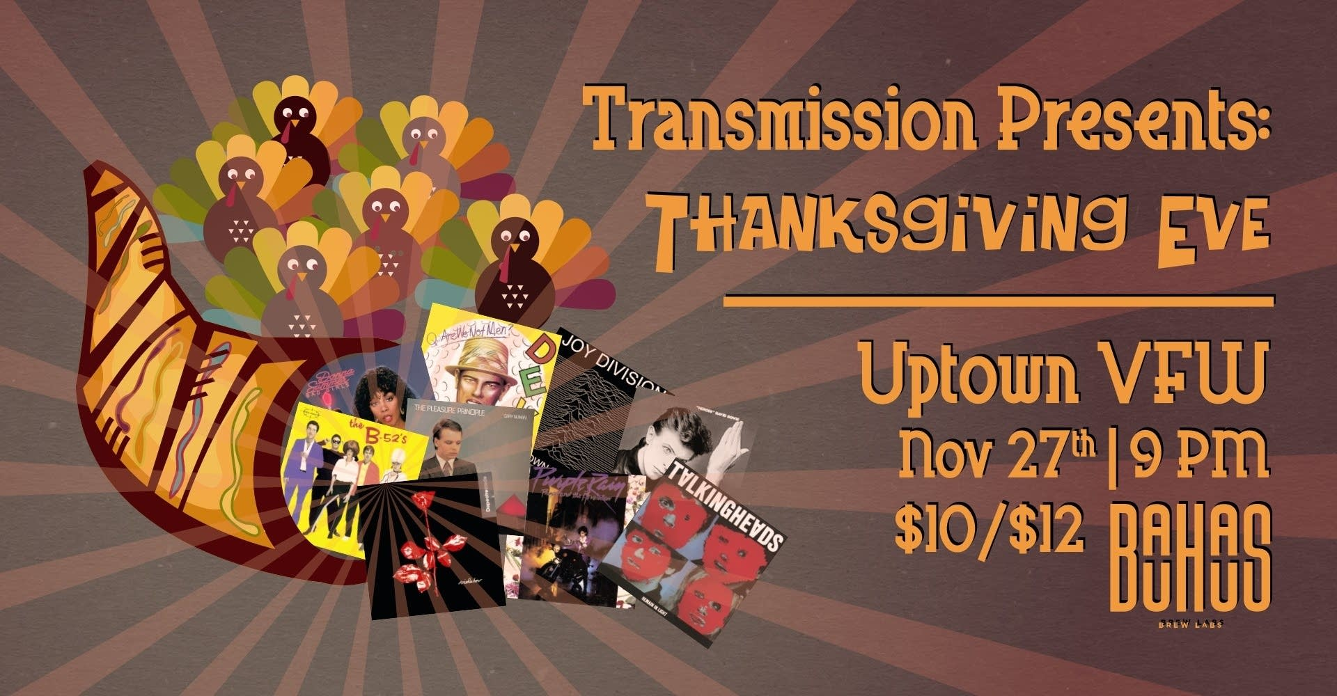 Transmission Thanksgiving Eve Dance Party