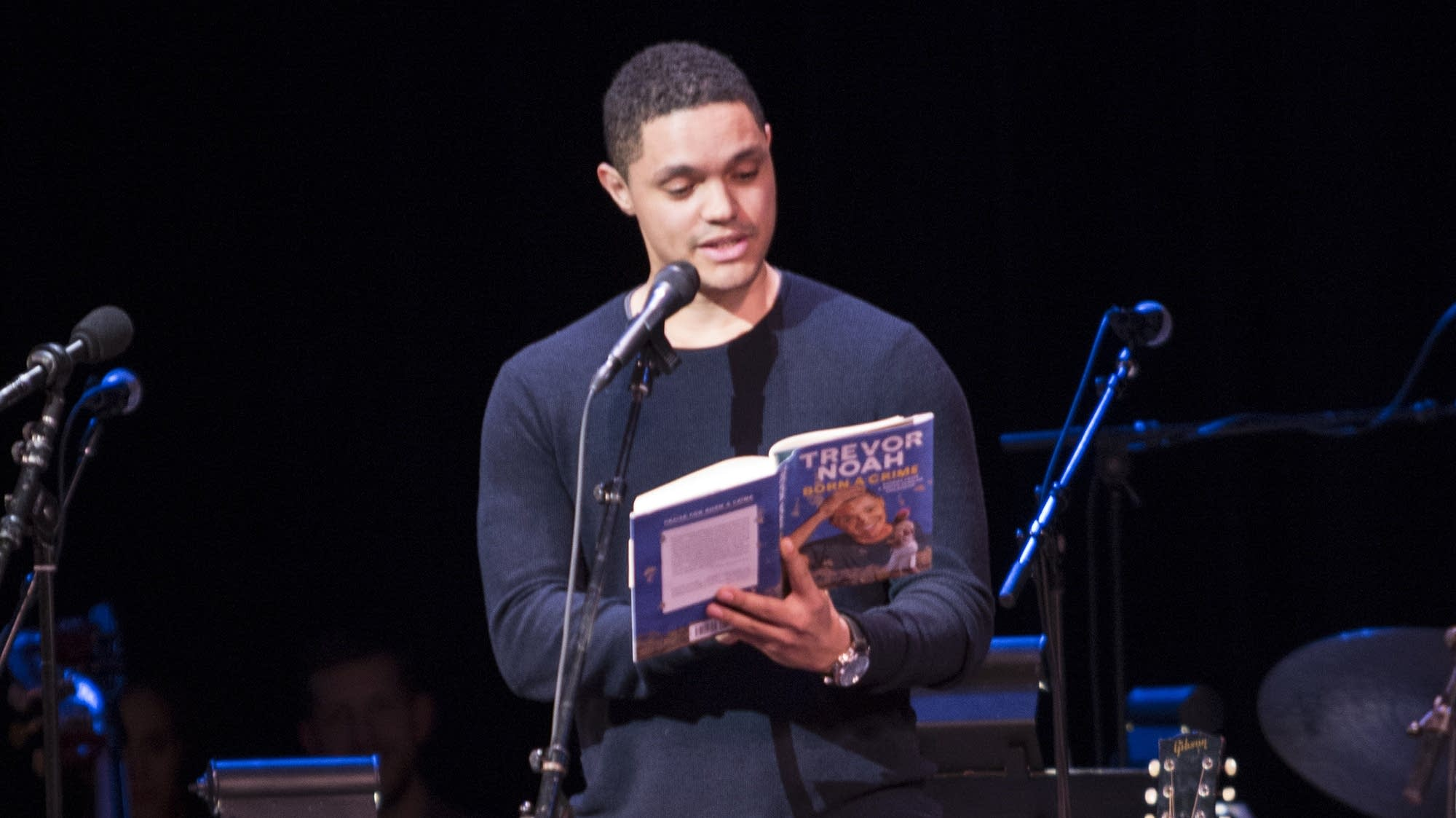 Trevor Noah reads from his book 'Born a Crime.'