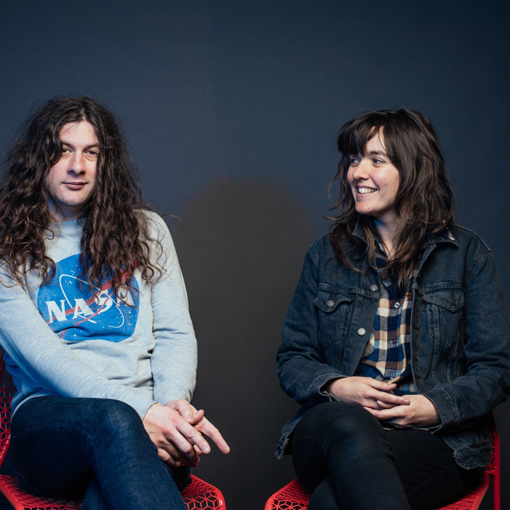 Kurt Vile and Courtney Barnett portrait at The Current