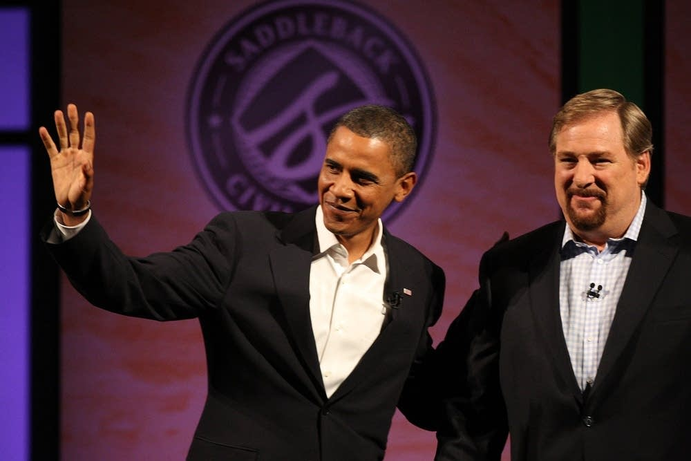 Sen. Barack Obama, D-Ill., and Pastor Rick Warren