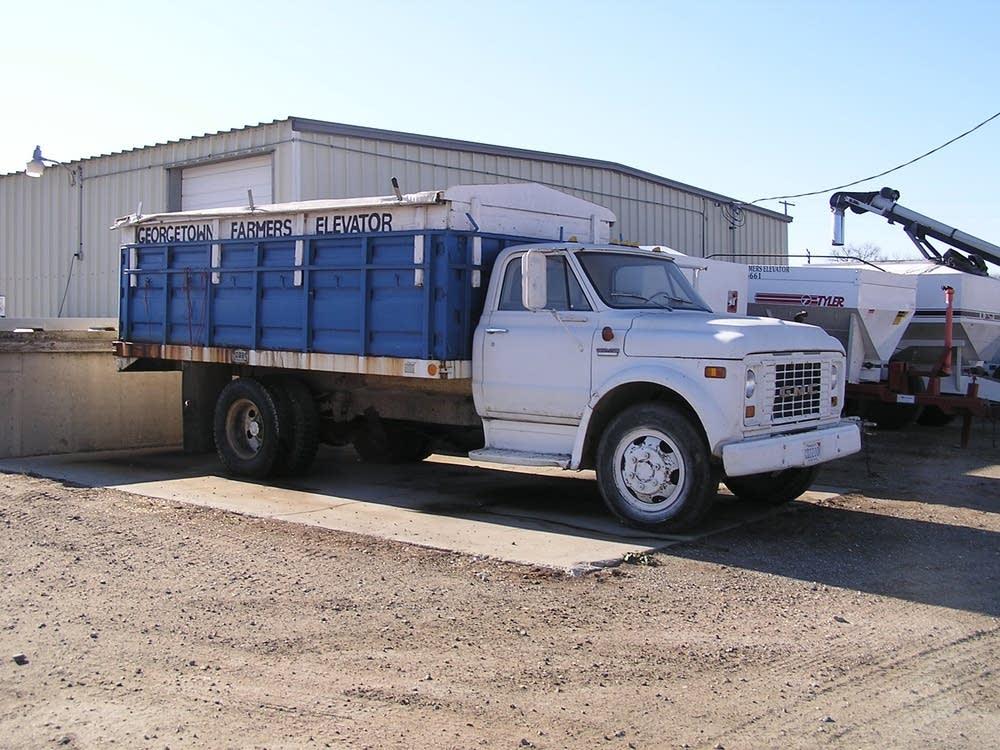 A smaller truck.