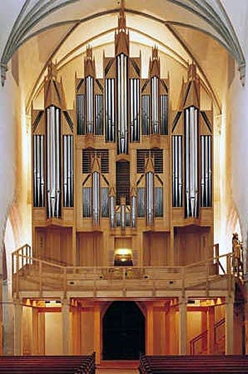 1998 Goll organ at Stadtpfarrkirche Sankt Martin, Memmingen, Germany
