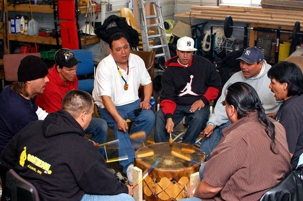 White Earth drummers