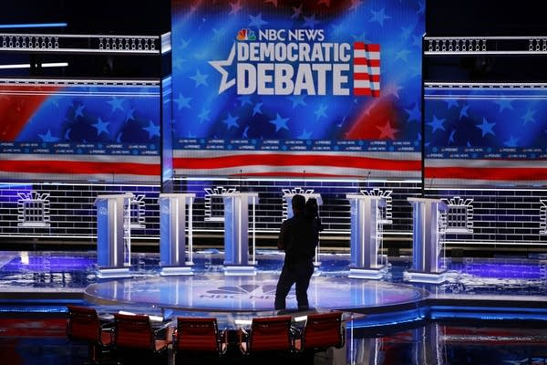 Nevada Democratic presidential debate stage