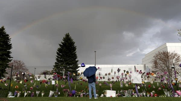 A rainbow appears over Paisley Park.