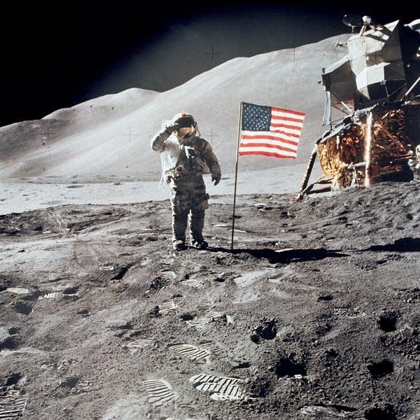 AstronautDavid Scott, commander of Apollo 15