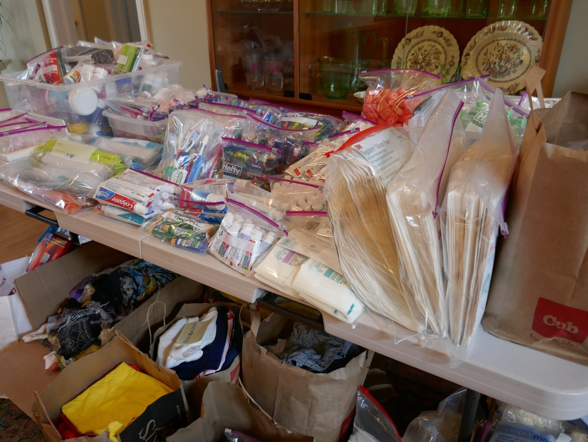 Supplies and donations gathered by Arm in Arm in Africa