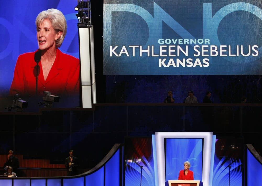 Kansas Gov. Kathleen Sebelius speaks at DNC