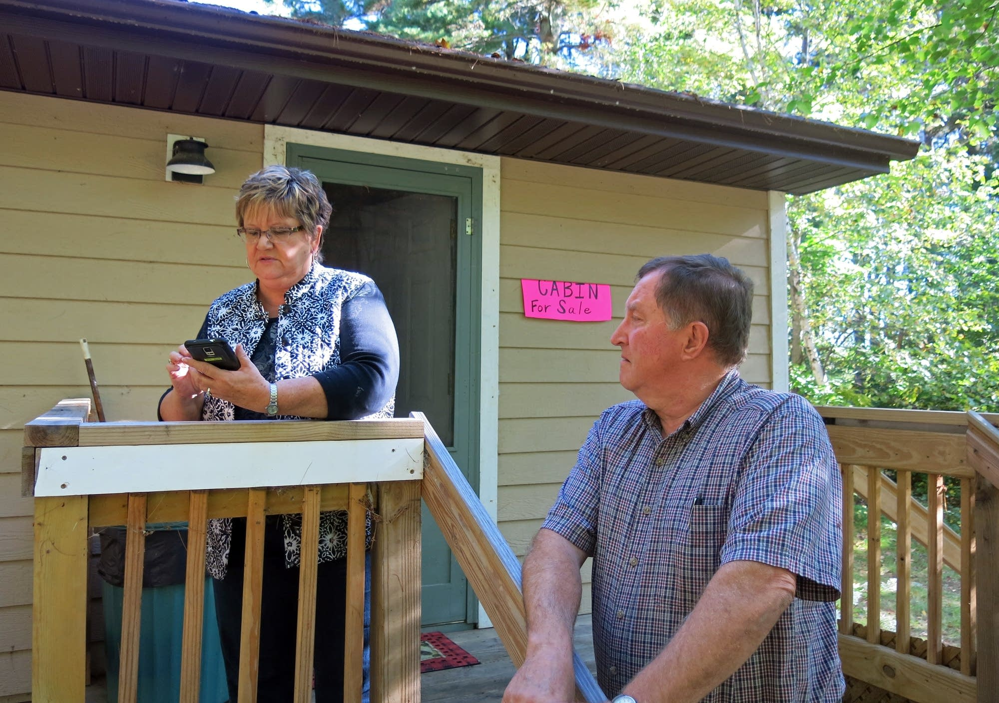 Jim and Gail Hinkemeyer will have to move or sell their family cabin.