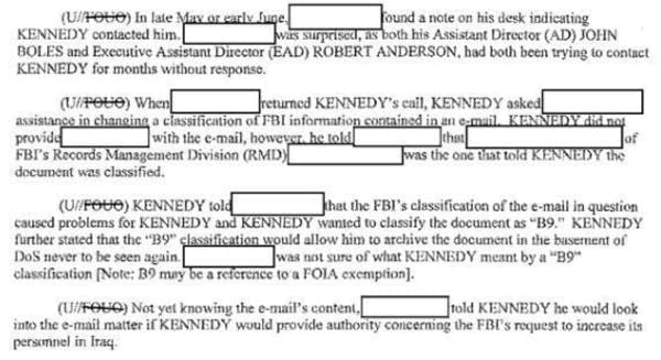 FBI notes from its investigation