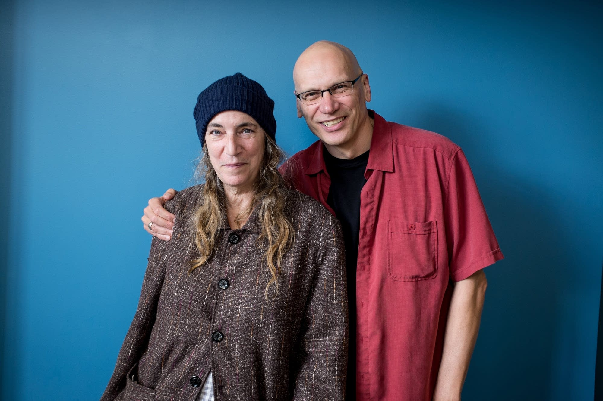 Patti Smith and Mark Wheat