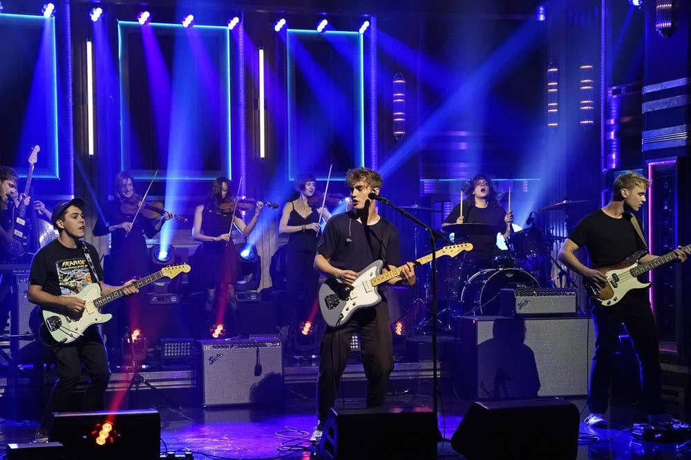 Sam Fender performs on 'The Tonight Show Starring Jimmy Fallon'