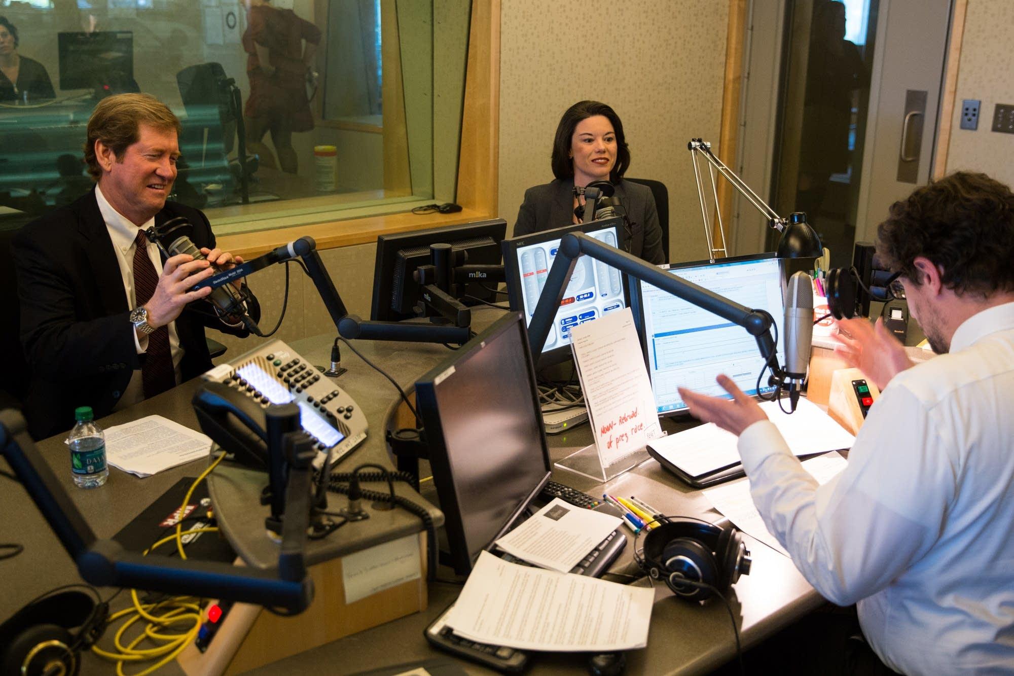 Angie Craig and Jason Lewis debate at MPR