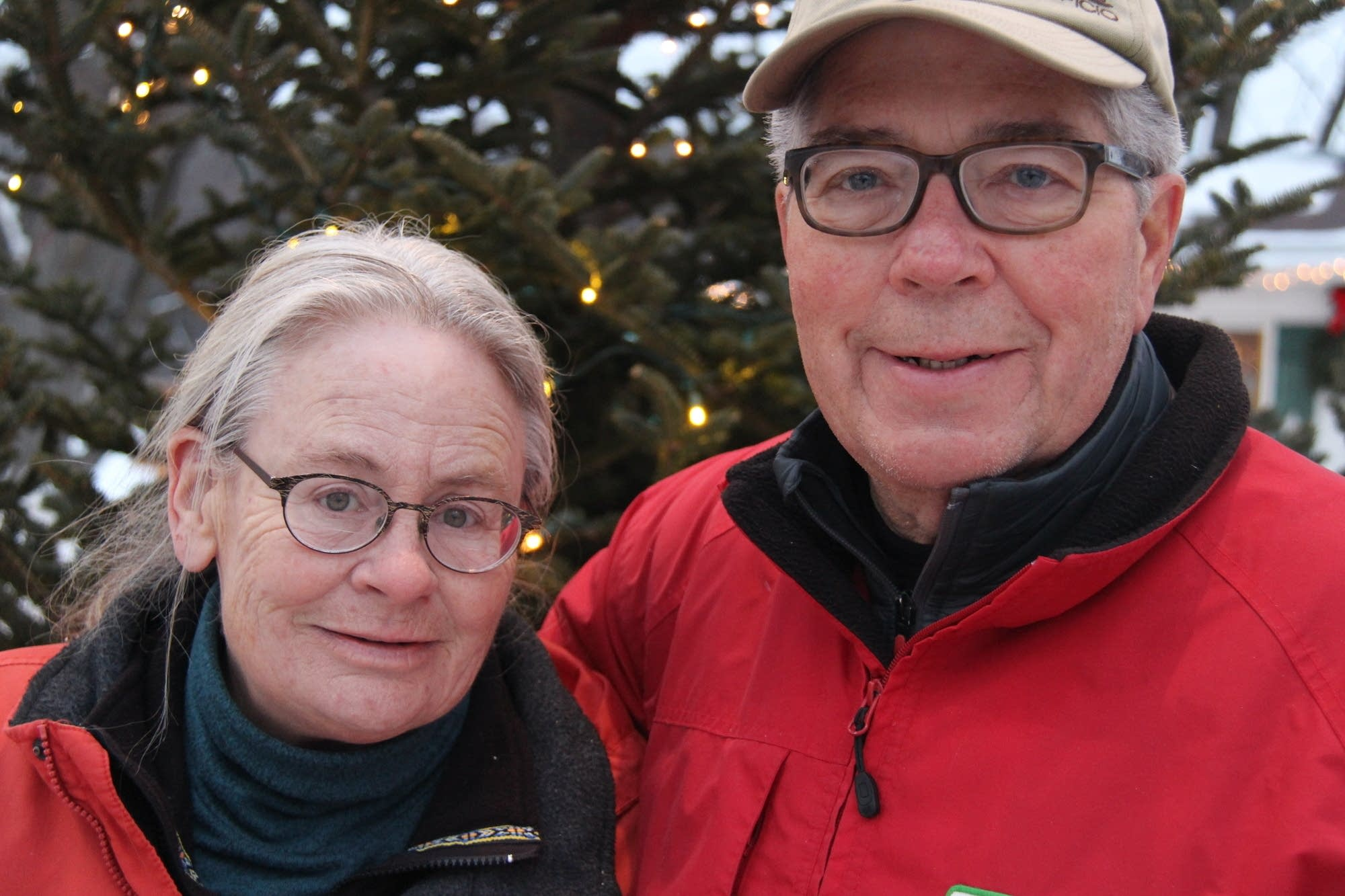 Deb and Neil Krueger pose for a portrait at their farm.
