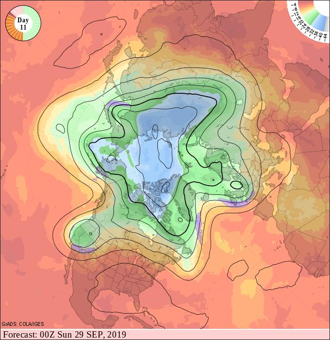 Upper air forecast map for 7 pm September 28