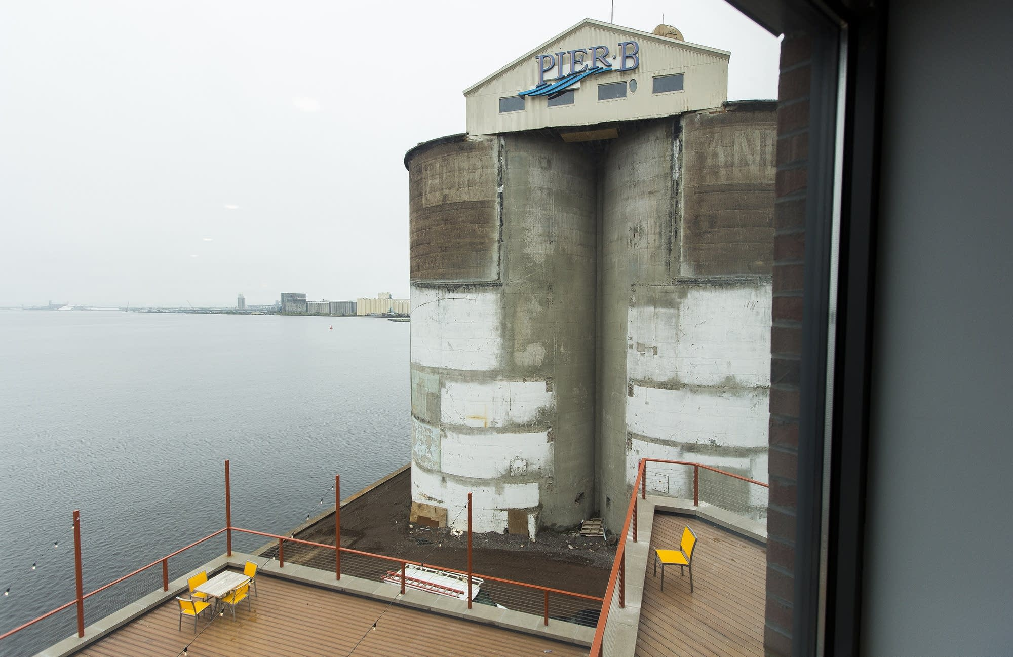 Pier B Resort's iconic concrete silos.
