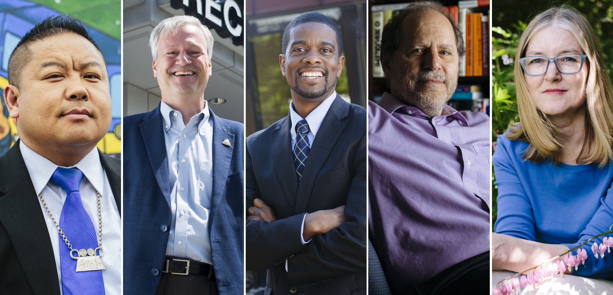 Candidates for St. Paul mayor Thao, Harris, Carter, Goldstein and Dickinson