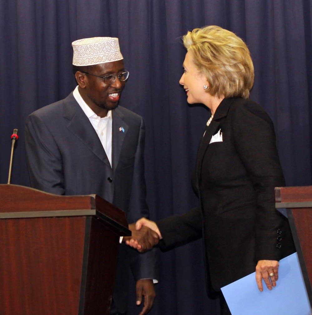 Hillary Clinton, Sheik Sharif Sheik Ahmed