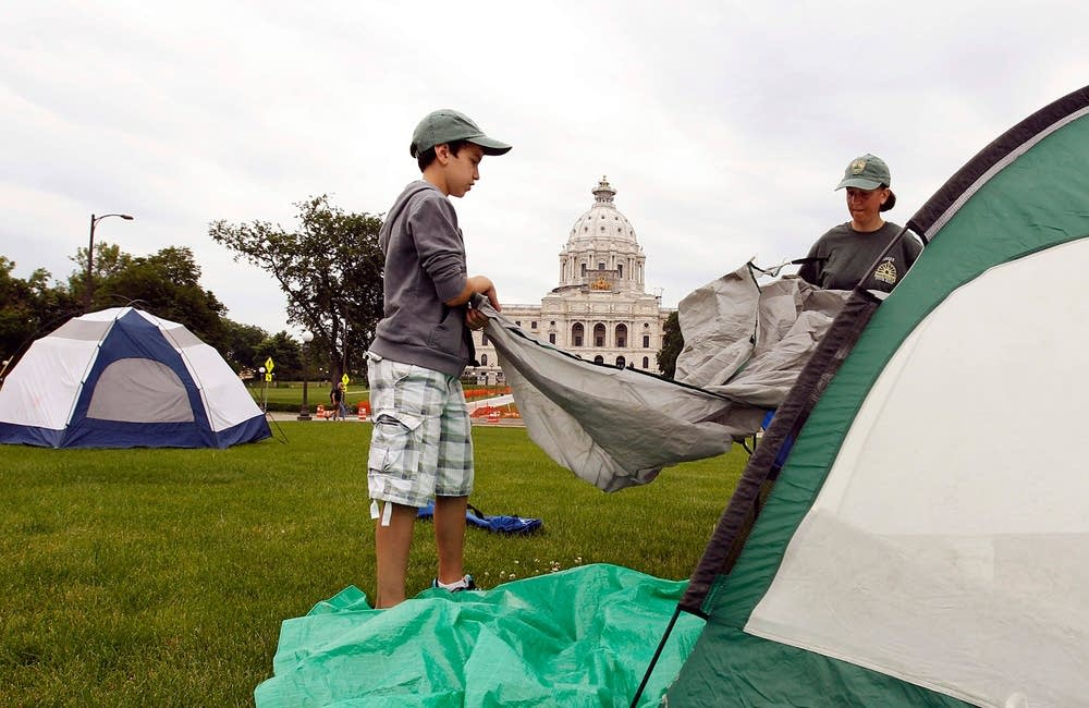 Camping at the Capitol
